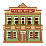 Wild West grand hotel Royalty Free Stock Images