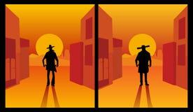 Wild west gunslinger. Stock Images