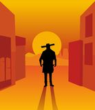 Wild west gunslinger. Stock Image