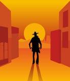 Wild west gunslinger.  Stock Photos