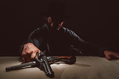 Wild West Gunslinger Stock Photography