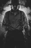 Wild West Gunslinger. Frantic looking wild west gunslinger Stock Photography