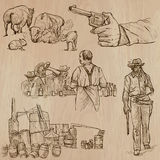 Wild West - Hand drawn vector pack Royalty Free Stock Photos