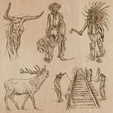 Wild West - Hand drawn vector pack Stock Photos