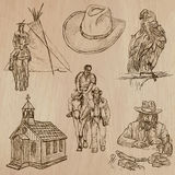 Wild West - Hand drawn vector pack Royalty Free Stock Photo