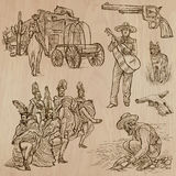 Wild West - Hand drawn vector pack Royalty Free Stock Image