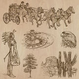 Wild West - Hand drawn vector pack Stock Photo