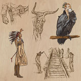 Wild West - Hand drawn vector pack Stock Photography