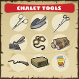 Wild West icons set tools Royalty Free Stock Images