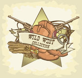 Wild West label Stock Photography