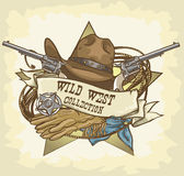 Wild West label Royalty Free Stock Photos