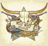 Wild West label Royalty Free Stock Photography