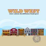 Wild West Landscape Template Stock Photos