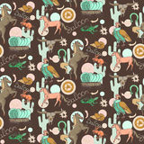 Wild west pattern Stock Images