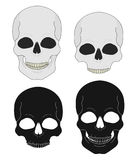Wild west pistols and skull banners Stock Image
