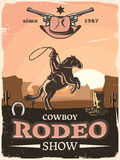 Wild West Poster Stock Photos