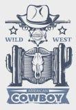 Wild West Print Stock Image