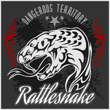 Wild west and rattlesnake - vintage vector artwork Royalty Free Stock Image