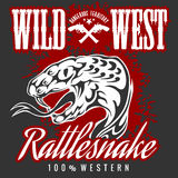 Wild west and rattlesnake - vintage vector artwork Royalty Free Stock Photo