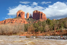 Wild West Red Rocks Stock Photo