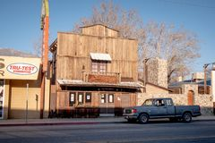 Wild West Saloon in the historic village of Lone Pine - LONE PINE CA, USA - MARCH 29, 2019. Wild West Saloon in the historic village of Lone Pine - LONE PINE CA stock photo