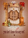 Wild west saloon poster Stock Images
