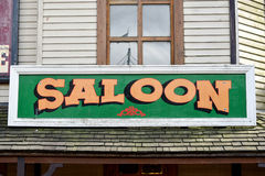 Wild West Saloon Sign. On building Royalty Free Stock Image