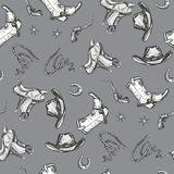 Wild west seamless pattern Royalty Free Stock Images