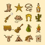 Wild west set Stock Photography