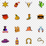 Wild West set icons Royalty Free Stock Image
