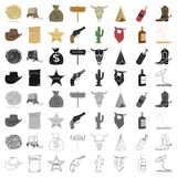 Wild west set icons  Royalty Free Stock Photography