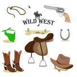 Wild West set. stock illustration