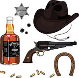Wild West set Royalty Free Stock Images