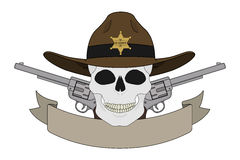 Wild west sheriff emblem Royalty Free Stock Image