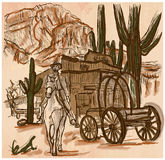 Wild West Sheriff - An hand drawn vector Stock Images