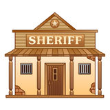 Wild West Sheriff's office Stock Photography