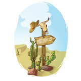 Wild West Sign Poster Stock Photo