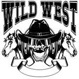Wild west skull var 10 Stock Images