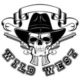 Wild west skull var 5 Royalty Free Stock Images