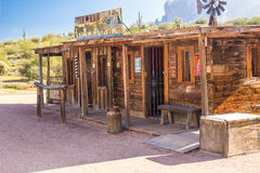 Wild West Storefronts in Arizona Desert Royalty Free Stock Photos