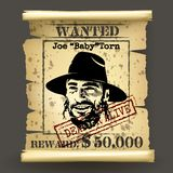 Wild west style wanted poster Stock Photography