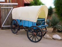 Wood covered wagon royalty free stock photos