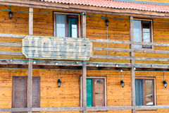 Wild West Town - Hotel Stock Image