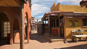 Wild West town movie set and park in Tombstone, Arizona
