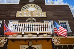 Wild West Town. Saloon Stock Photo