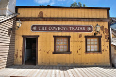 Wild West Town. SIOUX CITY, GRAN CANARIA -  FEB 20, 2014: Cowboys trader house of wild west town in Sioux City. Popular tourist attraction in Gran Canaria island Royalty Free Stock Photo