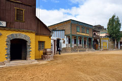 Wild West Town. SIOUX CITY, GRAN CANARIA -  FEB 20, 2014: Street of wild west town in Sioux City. Popular tourist attraction in Gran Canaria island Stock Images