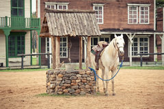 Wild west town style stock photography