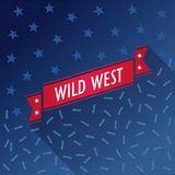 Wild west vector poster with bullets and stars Royalty Free Stock Photo