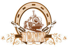 Wild West Vignette. Vectorial image on a theme wild west Stock Photo
